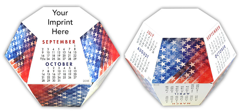 Stars and Stripes Calendar Pop-Up
