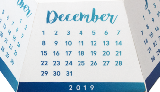 Azure Polygon Calendar Pop-Up